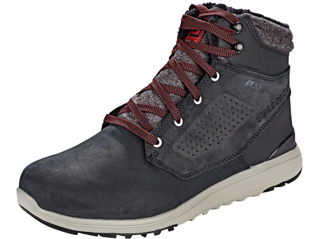 Salomon Utility CS WP Shoes Herren black/black/red dahlia